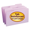 File Folders, 1/3 Cut, Reinforced Top Tab, Legal, Lavender, 100/Box