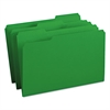 File Folders, 1/3 Cut Top Tab, Legal, Green, 100/Box