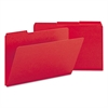 Recycled Folder, One Inch Expansion, 1/3 Top Tab, Legal, Bright Red, 25/Box