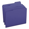 File Folders, 1/3 Cut Top Tab, Letter, Navy, 100/Box