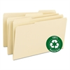 Smead Recycled Two-Ply File Folders, 1/3 Cut Top Tab, Legal, Manila, 100/Box
