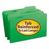 File Folders, 1/3 Cut, Reinforced Top Tab, Legal, Green, 100/Box