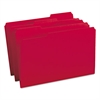 File Folders, 1/3 Cut Top Tab, Legal, Red, 100/Box