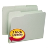 Smead Recycled Folder, One Inch Expansion, 1/3 Top Tab, Letter, Gray Green, 25/Box