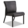 Gratzi Reception Series Armless Guest Chair, Black Vinyl