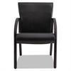 Gratzi Reception Series Guest Chair with Arms, Black Vinyl