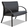 Gratzi Reception Series Bariatric Guest Chair, Black Vinyl