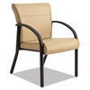 La-Z-Boy Contract Gratzi Reception Series Guest Chair with Arms, Taupe Vinyl