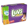 Luvs Diapers, Size 3: 16 to 28 lbs, 34/Pack, 4 Pack/Carton