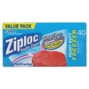 Ziploc Double Zipper Freezer Bags, 6.97 x 7.7, 1 qt, 2.7 mil, 40/Box, 9 Box/Carton
