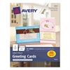 Avery Half-Fold Greeting Cards, Inkjet, 5 1/2 x 8 1/2, Matte White, 20/Box w/Envelopes
