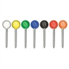 "Map Tacks, Plastic, Assorted, 3/8"", 100/Box"