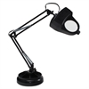 "Ledu Full Spectrum Magnifier Desk Lamp, 30"" High, Black"