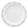 "Molded Fiber Dinnerware, Plate, 8 3/4""Dia, White, Vines Theme, 500/Carton"