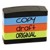 COPY, DRAFT, ORIGINAL, 1 13/16 x 5/8, Assorted Fluorescent Ink