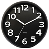 Round Wall Clock, Black, 13""