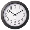"Universal Whisper Quiet Clock, 12"", Black"