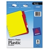Write-On Tab Plastic Dividers w/White Labels, 8-Tab, Letter