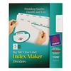 Index Maker Print & Apply Clear Label Dividers w/White Tabs, 5-Tab, Letter