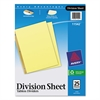 Avery Untabbed Sheet Dividers, Untabbed, Letter