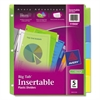 Avery Insertable Big Tab Plastic Dividers, 5-Tab, Letter