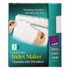 Avery Index Maker Print & Apply Clear Label Plastic Dividers, 5-Tab, Letter, 5 Sets