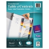 Avery Ready Index Customizable Table of Contents Plastic Dividers, 15-Tab, Letter