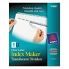 Index Maker Print & Apply Clear Label Plastic Dividers, 8-Tab, Letter