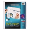 Print & Apply Clear Label Dividers w/White Tabs, 8-Tab, 11 1/4 x 9 1/4, 5 Sets