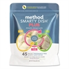 Method Smarty Dish Plus Detergent Tabs, Fragrance Free, 45 Tabs/Pack