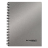 Side Bound Guided Business Notebook, 7 1/2 x 9 1/2, Metallic Silver, 80 Sheets