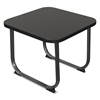 Oui Reception and Lobby Tables, End Table, 20w x 20d x 19h, Black