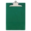 "Recycled Plastic Clipboards, 1"" Clip Cap, 8 1/2 x 12 Sheets, Green"
