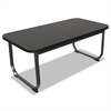 BALT Oui Reception and Lobby Tables, Coffee Table, 40w x 20d x 19h, Black