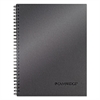 Side Bound Guided Business Notebook, 9 1/2 x 7 1/4, Metallic Titanium, 80 Sheets