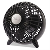 "Chillout USB/AC Adapter Personal Fan, Black, 6""Diameter, 1 Speed"