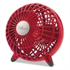 "Chillout USB/AC Adapter Personal Fan, Red, 6""Diameter, 1 Speed"