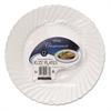 "Classicware Plastic Dinnerware Plates, 10 1/4"" Dia, White, 12/Pack"