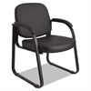 Genaro Series Sled Base Guest Chair, Black Vinyl