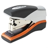 Optima 40 Compact Stapler, Half Strip, 40-Sheet Capacity, Black/Silver/Orange