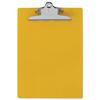 "Recycled Plastic Clipboard w/Ruler Edge, 1"" Clip Cap, 8 1/2 x 12 Sheets, Yellow"