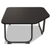 Oui Reception and Lobby Tables, Corner Table, 31w x 31d x 19h, Black