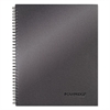 Cambridge Side Bound Guided Business Notebook, 11 x 9 1/4, Metallic Titanium, 80 Sheets