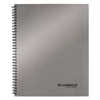 Side Bound Guided Business Notebook, 11 x 9 1/4, Metallic Silver, 80 Sheets