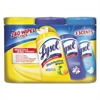 LYSOL Brand Disinfecting Wipes, Crisp Linen/Early Morn/Lemon Lime, 7 x 8, 80/Canister, 3/PK