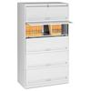 Tennsco Closed Fixed Shelf Lateral File, 36w x 16 1/2d x 63 1/2, Light Gray