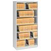 Open Fixed Shelf Lateral File, 36w x 16 1/2d x 75 1/4, Light Gray