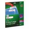 Avery X-Large 1/3-Cut File Folder Labels w/TrueBlock, 15/16 x 3 7/16, White, 450/Pack