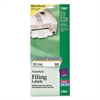 File Folder Labels on Mini Sheets, 2/3 x 3 7/16, Assorted, 300/Pack