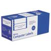 Dot Matrix Mailing Labels, 1 Across, 1 7/16 x 3 1/2, White, 5000/Box